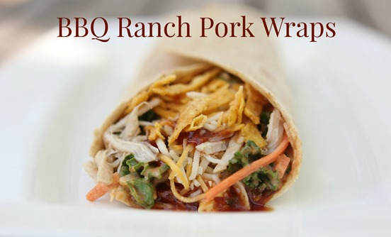 BBQ Ranch Pork Wraps