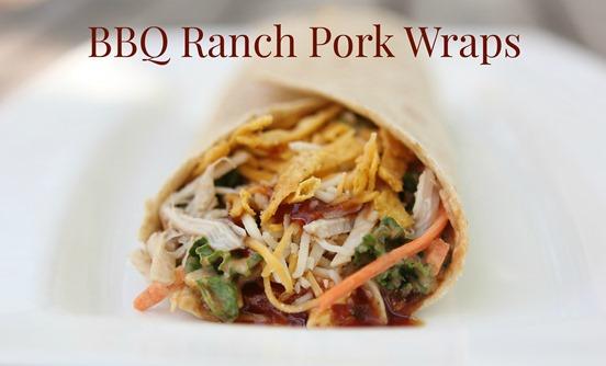 BBQ Ranch Pork Wraps