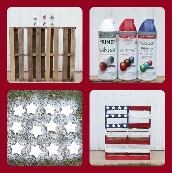 4th of July Pallet Flag