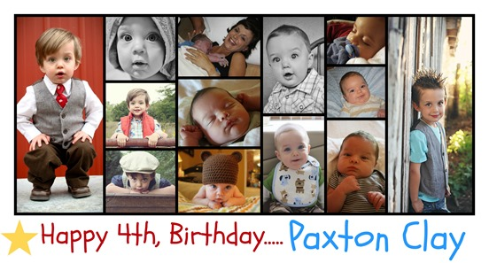 happy 4th birthday paxton